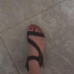Mossimo black strap sandals